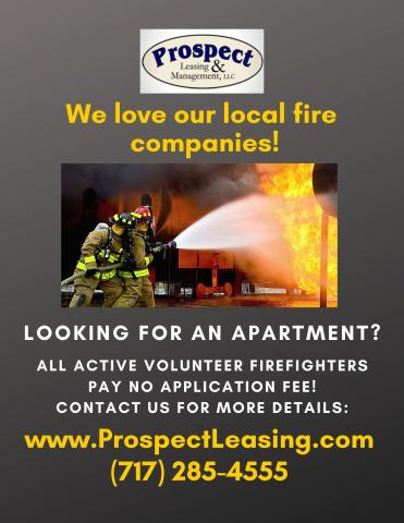 Prospect Leasing Supports Local Fire Companies in Lancaster PA